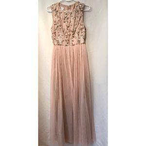Donna Morgan Blush/Rose Gold Bridesmaid Dress